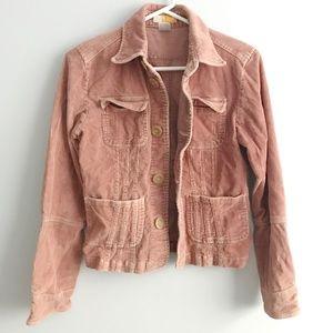 🍑HP🍑 Anthropologie Tulle Corduroy Pink Jacket